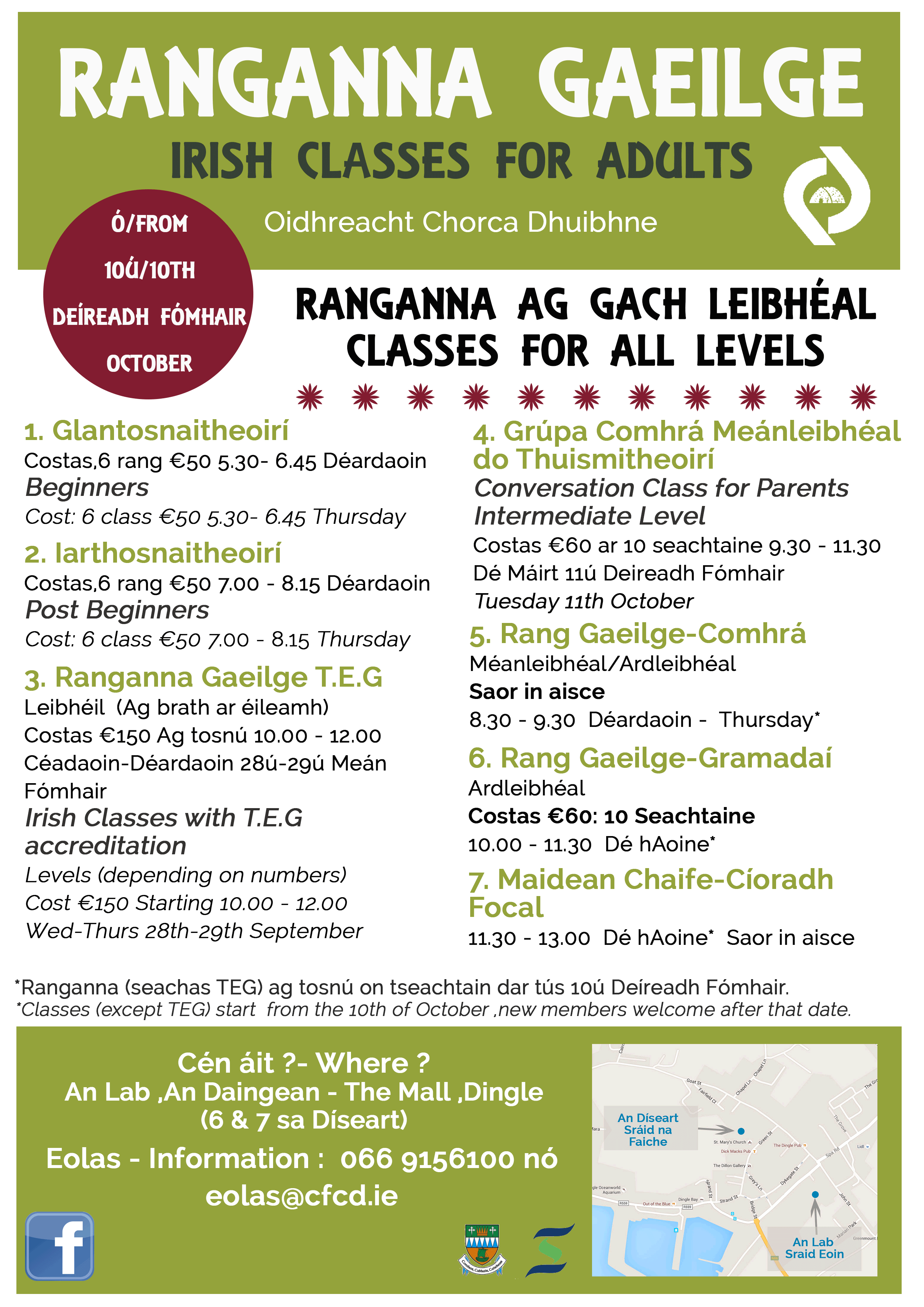 Irish Classes for Adults in Dingle
