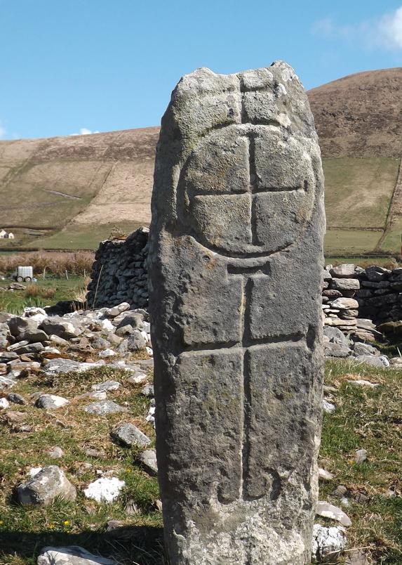 Stone Cross on Cosán na Naomh West Kerry, Corca Dhuibhne